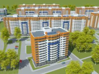 Панорама корпусов жилого комплекса